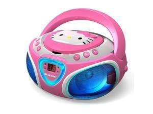 HELLO KITTY KT2025 CD Boom Box with AM/FM Radio & LED Light Show