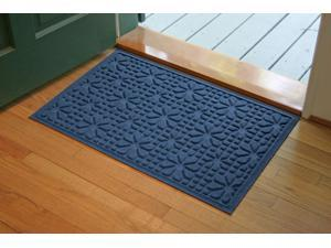 Bungalow Flooring 707610023 Aqua Shield Stained Glass 2' x 3' Mat - Navy
