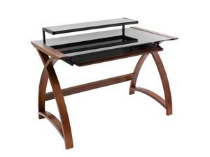 LumiSource OFD-SW-BNT-WNG Bentley Office Desk - Wenge/Black