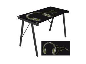 LumiSource OFD-TM-PGHDPH Graphic Top Headphone Music Exponent Writing Desk