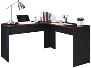 Altra Furniture 9843096 The Works Contemporary L-Shaped Desk, Cherry and Slate Gray Finish