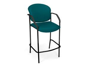 Model# 404C-802&#59; Brand: OFM&#59; Contoured black plastic arms&#59; Sturdy, round black steel tube frame&#59; Color: Teal&#59; Product UPC: 845123014431