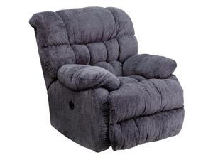 Flash Furniture AM-P9460-5861-GG Contemporary Columbia Indigo Blue Microfiber Power Recliner with Push Button