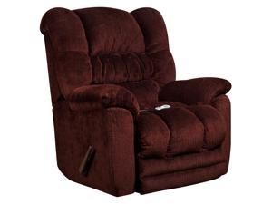 Flash Furniture AM-H9560-6451-GG Massaging Temptation Merlot Microfiber Recliner with Heat Control