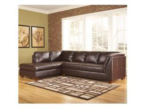 Flash Furniture FSD-2749LFSEC-MAH-GG Signature Design by Ashley Fairplay Sectional with Left Side Facing Chaise in Mahogany DuraBlend Leather