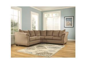 Flash Furniture FSD-1109SEC-MOC-GG Signature Design by Ashley Darcy Sectional in Mocha Fabric