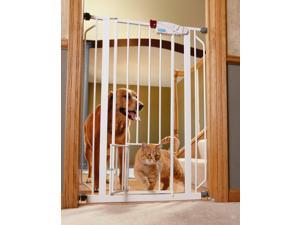 Carlson Pet Product 0941PW Extra Tall Walk-Thru Gate with Pet Door