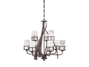 Quoizel 9 Light Kyle Chandelier in Iron Gate - KY5009IN