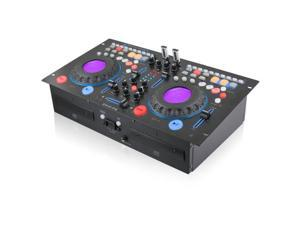 Technical Pro dmxp6 Rackmountable Double Cd Mixer with USB, Scratch and BPM