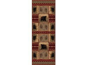 Tayse Rugs Nature 6570 Red 2 ft. 7 in. x 7 ft. 3 in. Lodge Runner