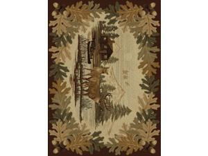 Tayse Rugs Nature 6670 Brown 5 ft. 3 in. x 7 ft. 3 in. Lodge Area Rug
