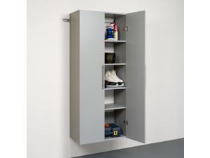 Prepac HangUps 30 inch Large Storage Cabinet, Light Grey - GSCW-0707-2K