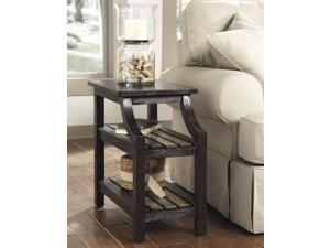 Chairside End Table in Rustic Brown - Signature Design by Ashley Furniture
