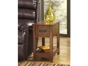 Chairside End Table inBrown  Finish