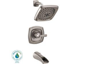 Delta Tolva 1-Handle H2Okinetic Tub and Shower Faucet in Stainless