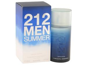 212 Summer by Carolina Herrera 3.4 oz Eau De Toilette Spray (Limited Edition) for Men