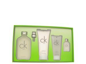 Ck One by Calvin Klein - Gift Set - 6.6 oz Eau De Toilette Spray (Unisex) + 6.7 oz Body Lotion + 3.4 oz Shower Gel + .5 oz Mini for Men