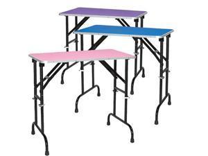 Master Equipment TP988-36-19 Groom Table Adj Height 36x24 - Blue