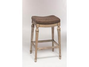 Hillsdale 5606-830 Vetrina Backless Non-Swivel Bar Stool with Grey Fabric