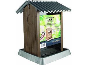 North States VILLAGE COLLECTION OUTHOUSE BIRD FEEDER BROWN/SILVER 4.25 POUND CAP