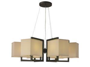 Maxim Baldwin 6-Light Pendant Dark Bronze