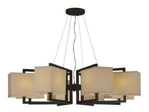 Maxim Baldwin 8-Light Pendant Dark Bronze