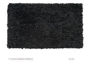 SHAGGY RAGGY BLACK Size 2.8X4.8 Ft.