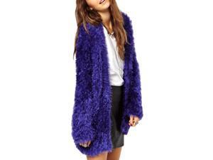 Shefetch Women's New 2 Colors 6 Sizes Stylish Warm Womens Outerwear Outerwear Blue XS