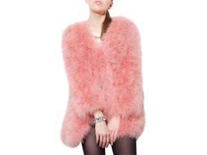 Shefetch Women's 6 Sizes 2015 Autumn Stylish Warm Womens Outerwear Outerwear Pink XL