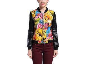Shefetch Women's Latest 2015 Autumn 1 Colors Womens Outerwear Outerwear Yellow 3XL
