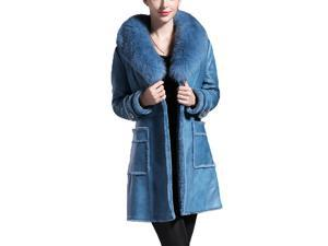 Shefetch Women's New 1 Colors 5 Sizes 2015 Stylish Womens Outerwear Outerwear Blue XL