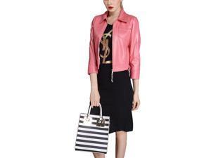 Shefetch Women's 4 Sizes 2015 Autumn Fashion Warm Womens Outerwear Outerwear Pink M