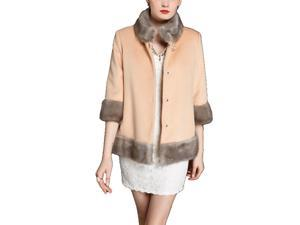 Shefetch Women's Stylish New 2 Colors 5 Sizes 2015 Womens Outerwear Outerwear Camel 2XL