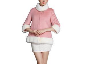 Shefetch Women's Stylish New 2 Colors 5 Sizes 2015 Womens Outerwear Outerwear Pink XL