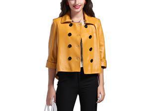Shefetch Women's 6 Sizes 2015 Autumn Fashion Warm Womens Outerwear Outerwear Yellow 2XL
