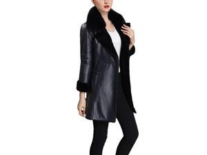 Shefetch Women's Latest 2015 Autumn 2 Colors Womens Outerwear Outerwear Black 2XL
