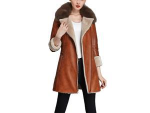 Shefetch Women's Latest 2015 Autumn 2 Colors Womens Outerwear Outerwear Brown L