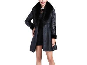 Shefetch Women's Latest 2015 Autumn 1 Colors Womens Outerwear Outerwear Black L