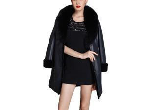 Shefetch Women's New 3 Colors 5 Sizes 2015 Stylish Womens Outerwear Outerwear Black M