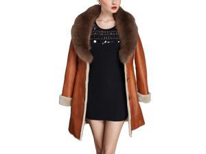 Shefetch Women's New 3 Colors 5 Sizes 2015 Stylish Womens Outerwear Outerwear Brown L
