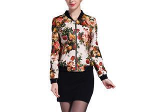Shefetch Women's 5 Sizes 2015 Autumn Fashion Warm Womens Outerwear Outerwear Beige 2XL