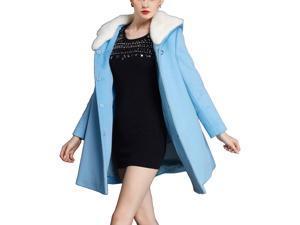 Shefetch Women's Latest 2015 Autumn 2 Colors Womens Outerwear Outerwear Blue 3XL