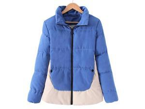 Shefetch Women's Fashion Warm Leisure Autumn 2015 2 Colors Womens Outerwear Blue L