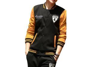 """Shefetch Men's Casual2015 Autumn Mens Activewear 6 Sizes Lycra 6 Colors Yellow and Black 3XL /US M chest:37.8"""""""