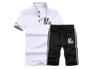 "Shefetch Men's 2015 Autumn Mens Activewear 6 Sizes Lycra Black White 3XL /US M-L chest:40.9"""