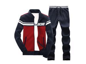 Shefetch Men's 2015 Autumn Mens Activewear Blue,Grey,Wine Red Lycra Wine Red L