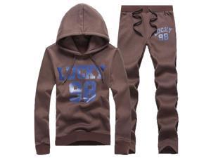 Shefetch Men's Autumn Mens Activewear 2XL,3XL,4XL,L,M,S,XL,XS Lycra 5 Colors Coffee XS