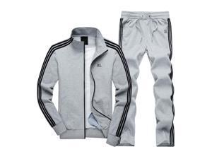 Shefetch Men's Casual Mens Activewear 5 Sizes Black,Blue,Light Grey Lycra Light Grey L