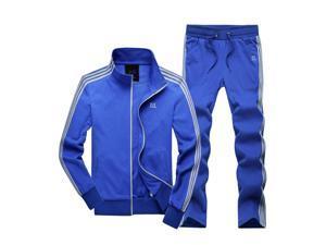Shefetch Men's Casual Mens Activewear 5 Sizes Black,Blue,Light Grey Lycra Blue 2XL