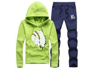 Shefetch Men's Autumn Mens Activewear 8 Sizes Lycra 5 Colors Green 3XL